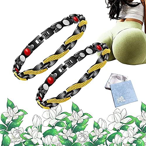 ONLift Butt Reafirming Pulsera, Sexy Hip Butt Butt Aumentar Nalgas, Elegante Fitlab Pulsera de cadera (Negro + Oro)