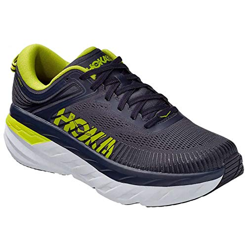 HOKA ONE ONE Men's Bondi 7 Running Shoes Odyssey Grey/Deep Well 8 M US