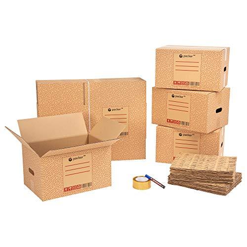 packer PRO Pack Mudanza Eco con 5 Cajas Carton Mudanza 600x400x400mm, 10...