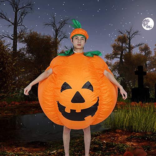 logozoee Aufblasbares Kostüm Halloween Kürbis Kleidung Lustige Cosplay Kleidung für Erwachsene Kind Männer Frauen, für Halloween Festivals Party Rollenspiel Bars(Pumpkin X122)