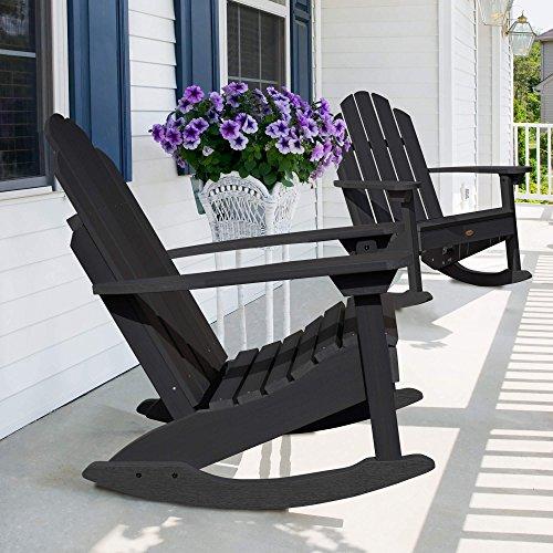 highwood AD-ROCCW30-BKE Classic Westport Adirondack Rocking Chair, One Size, Black