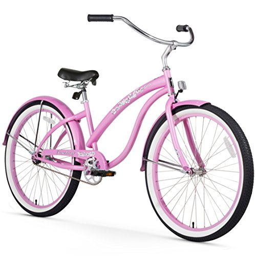 Firmstrong Bella Classic Single Speed Beach Cruiser Bicycle, 26-Inch, Pink