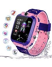 Intelligent horloge voor kinderen, waterdicht, smartwatch LBS tracker met kinderen, SOS, mobiele telefoon, touchscreen, spelcamera, voice-chat, wekker, voor jongens en meisjes, studentencadeau