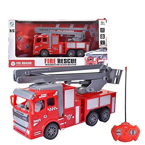 courti Feuerwehrauto Spielzeug, Fernbedienung RC Feuerwehrauto Mit Lichtern Rettungs Feuerwehrauto Spielzeug Manuelle Leiter Feuerwehrauto Spielzeugautos Für Jungen Und Mädchen Kinder Kleinkinder