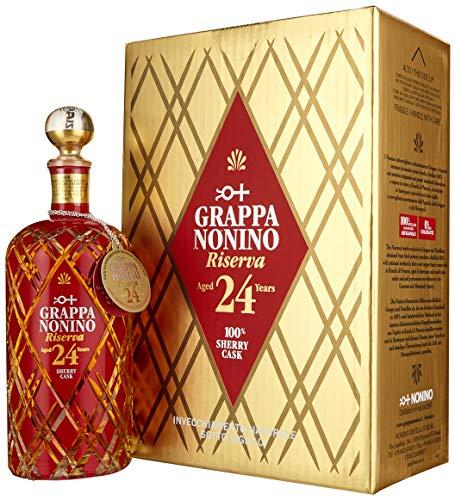 Nonino Grappa Riserva 24 years in Barriques 43%vol Acquavite di vinaccia - einzeln in Geschenkpackung (1 x 700ml)