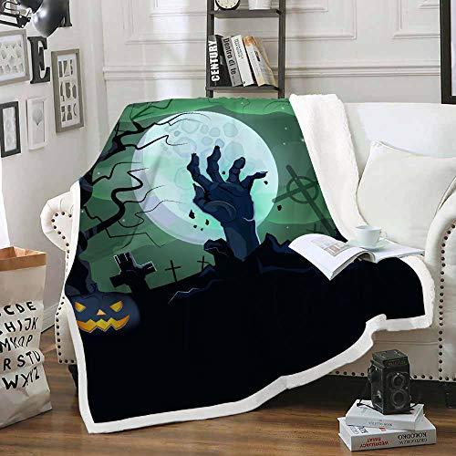HAHAHAG Flanell-Fleecedecke Halloweennacht 150X200CM Superweiche und Bequeme Warm Plüsch-Mikrofaserdecke Geeignet für Bed Sofa Travel Four Seasons Blanket