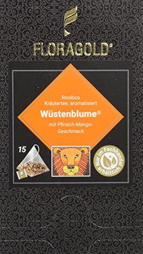 FLORAGOLD Pyramidenbeutel rotbuschtee Wüstenblume, 1er Pack (1 x 45 g)