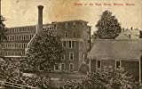 Home of the Bass Shoe Wilton, Maine ME Original Vintage Postcard