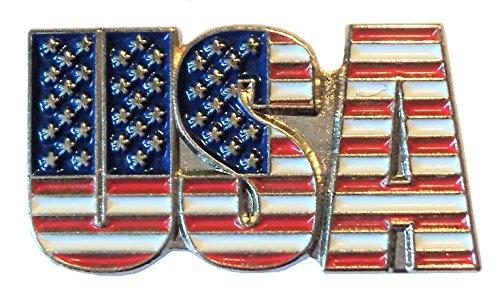 USA Amerika Stars & Stripes Flagge Rot Weiß Blau Metall Emaille Badge 25 mm