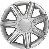 Albrecht Auto-Zubehör 9085 Radkappen für Stahlfelgen, Radzierblenden, Silber, 15 Zoll, Set of 4