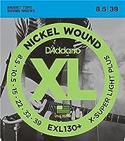 D'Addario EXL130+ X-Super Light Plus (8.5-39) ダダリオ エレキギター弦 ニッケル EXL-130+ 【国内正規品】