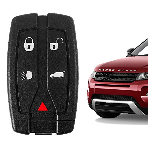 5 Buttons Key Fob Compatible with Range Rover Freelander 2 2006-2012, LR2 2008-2012 (FCC ID NT8TX9)
