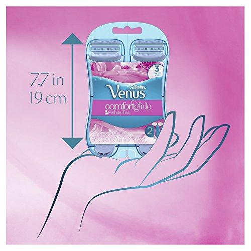Gillette Venus ComfortGlide White Tea Women's Disposable Razor, 2 Count