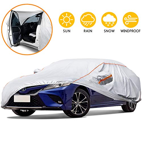 Waterproof Motorcycle Cover extra durable for intense weather protection- tear proof heavy duty night reflective- includes kickstand pad Sunblock