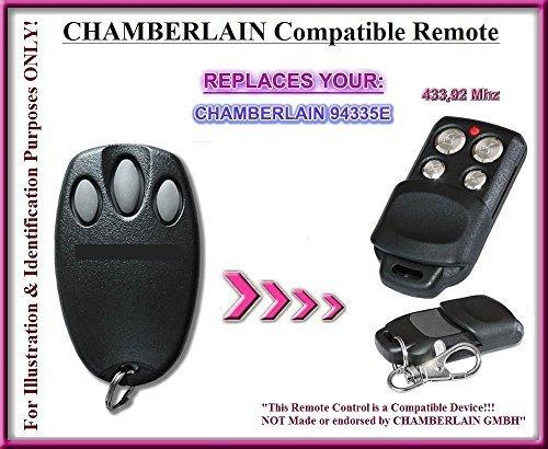 Chamberlain 94335E 433,92 MHz afstandsbediening compatibel, keyfob. nog betere kwaliteit dan de originele afstandsbediening van Chamberlain. !