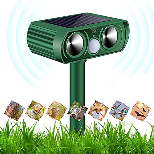Professionale Repellente Gatti, SUFUS Repellente Ultrasuoni Energia Solare Impermeabile a Frequenza Regolabile Adatto per Gatti, Ratti, Cani,Uccelli, Scoiattoli Adatto agli Giardino, Cortile, Fattoria