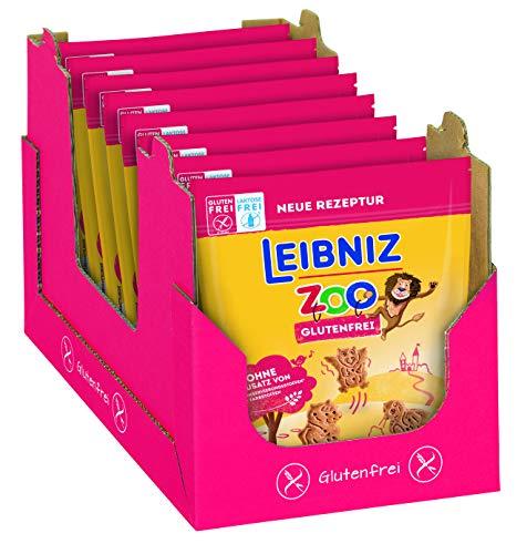 LEIBNIZ ZOO Gluten- und Laktosefrei - 8er Pack – Mini-Butterkekse ohne Gluten und Laktose in Form von niedlichen Fabelwesen für Kinder - ohne Palmöl – im Vorteilspack (8 x 100 g)