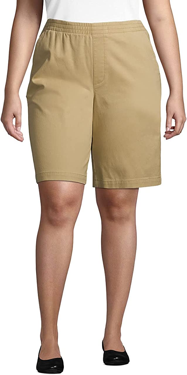 Lands' End Women's Mid Rise Elastic Waist Pull On 10