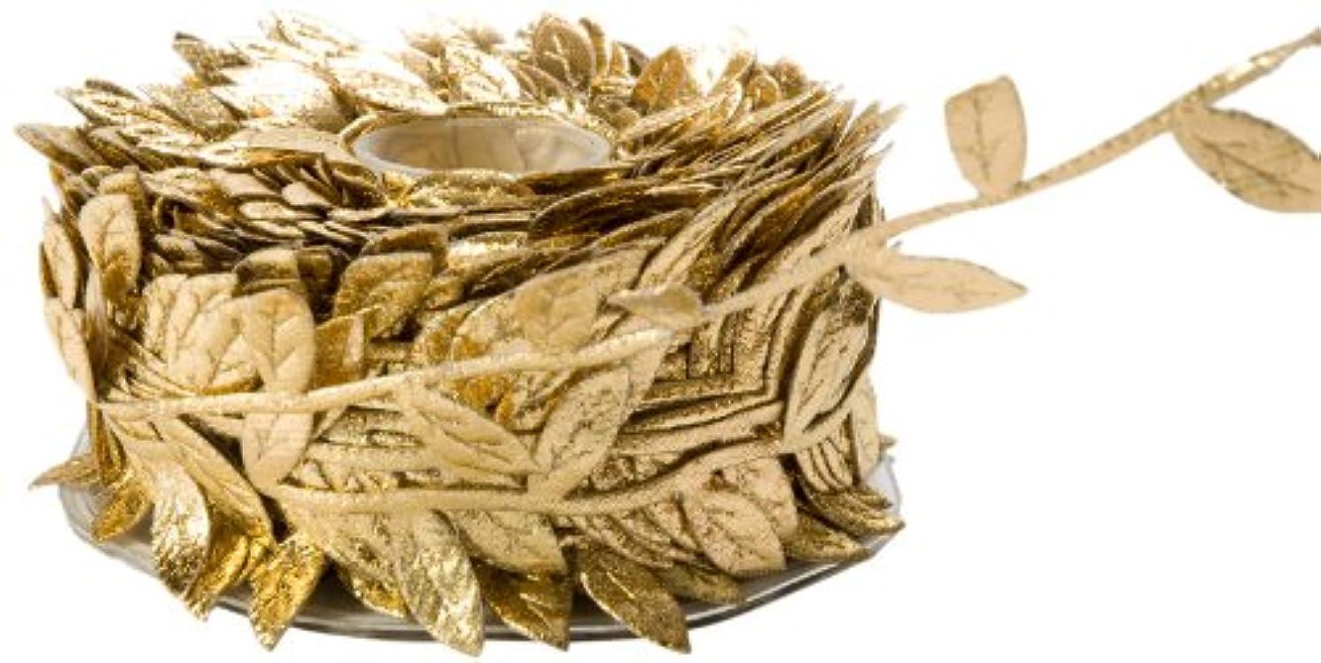 May Arts Ribbon, Gold Leaves