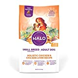 Halo Natural Dry Dog Food - Small Breed Recipe - Premium and Holistic Real Whole Meat - Chicken &...