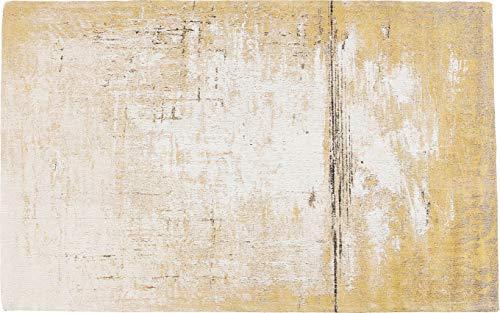 Kare Design Teppich Abstract Gelb, großer Wohnzimmerteppich, gewebter Bodenteppich, Vorleger, Läufer, Gelb (H/B/T) 1x170x240cm