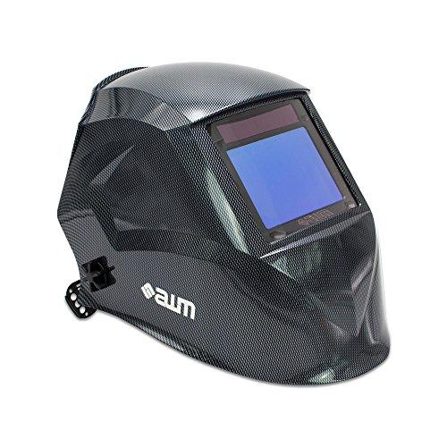 awm® WH03C Automatik Schweißhelm Schweißschirm Carbon Schweißmaske Solar Schweißbrille *Sichtfeld 100 x 73 mm