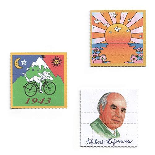 3x Pappemagnet Set 1 Blotter Art LSD Print Vintage Magnet 5cm²