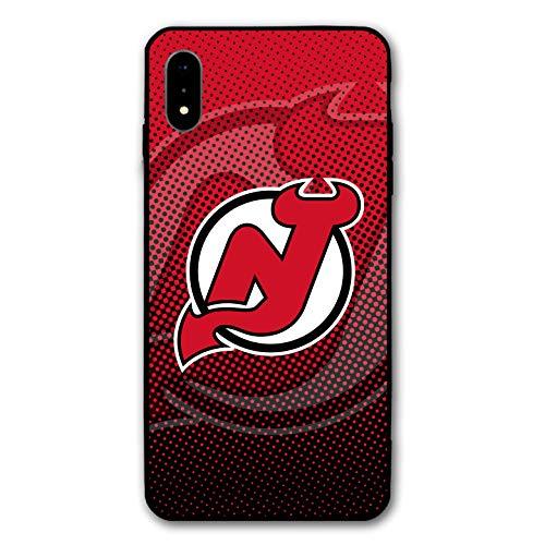 iPhone XS Schutzhülle für iPhone X, Hockey Teams, Silikon Bumper Rahmen und PC Back Cover Case für iPhone X/XS, 14,8 cm (13,8 Zoll), Apple iPhone XS, Devils-NJ