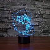 3D Lámpara de LED de luz nocturna To sort out Ilusión Lámpara de mesa Luces con para la decoración del partido Presentes de cumpleaños Con interfaz USB, cambio de color colorido