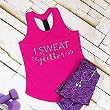 I Sweat Glitter Gym Vest Top