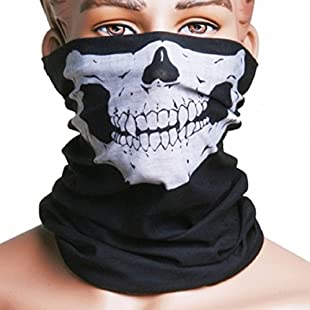 Motorcycle Skull Mask / Wear Headgear Neck Warmer Cycling Goggles Bandana Balaclava Half Ski Skiing Winter Store Shop Item Stuff Protective Hannibal Cheap Skeleton Scary Funny Unique Mouth Full Motorbike Vespa Scooter Riding Biker Rider Fahsionable Fashion Facial Anti Dust Wind Head Wear Hat Scarf Face Cap Cover Cool Helmet Clothing Apparel Clothes Face Black Accessories Gear Part Tool Stuff Supplies
