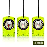 8. Potable Compass Navigation Backpacking Compass Liquid Filled Orienteering Compass Professional Field Waterproof Compass Adjustable Map Reading Compas for Outdoor Camping and Hiking 3 Pcs