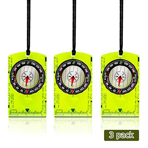 Potable Compass Navigation Backpacking Compass Liquid Filled Orienteering Compass Professional