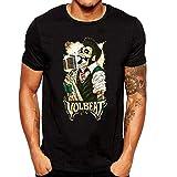 ZOMMING tee Volbeat Art Hombre Camiseta Negro/Hombre T Shirts Negro