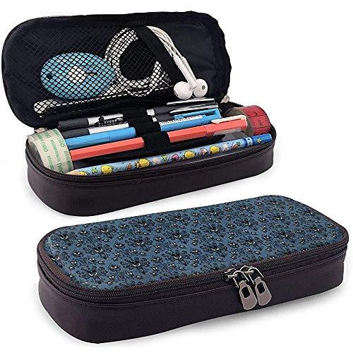 Haunted Mansion - Estuche lápices cuero azul, bolsa