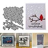 Stanzschablonen für Kartenherstellung, Vogelsitzstange, Metall, DIY, Scrapbooking, Papierkarten, Albumvorlage, Schablone – Silber