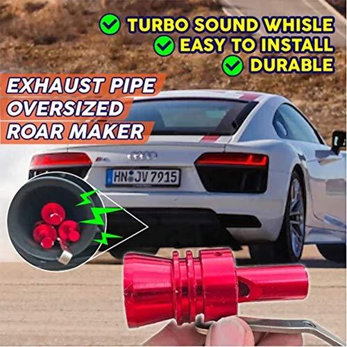2 PCS, Turbo Silbido Tubo De Escape Car Turbo Sound Whistle Universal (Rojo, XL)