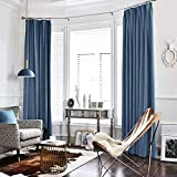 jinchan Dark Slate Curtains Velvet Drapes Bedroom Window Curtains 84 Inch Long Living Room Rod Pocket Window Treatment Set 2 Panels