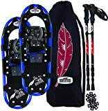 RedFeather Men's Hike 36 Inch Recreational Series Snowshoe Kit with SV2 Bindings, Ski Poles and Carry Bag - 157210KIT