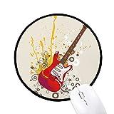 DIYthinker Musique Jazz Guitare électrique Culture ronde ANTIDÉRAPANTS Tapis de souris Noir Titched Edges Bureau Jeu cadeau