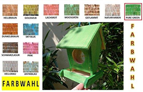 Futterhaus BTV-VOFU1K-moos001 PREMIUM Vogelhaus Futterstation XXL moosgrün grün für Nützlinge Biogarten, als Ergänzung zum Meisen Nistkasten Meisenkasten oder zum Insektenhotel, für Vögel, Vogelhäuschen / Vogelvilla zum Hängen und Aufstellen von BTV - 4