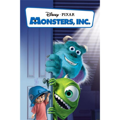 Monsters Inc Poster by Silk Printing # Size About (60cm x 90cm, 24inch x 36inch) # Unique Gift # C98C2D