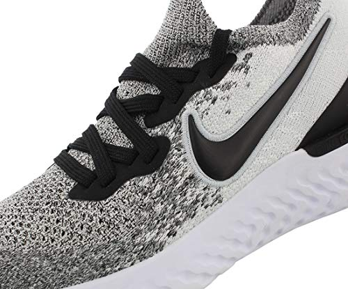 Nike Women's Epic React Flyknit 2 Running Shoes (10, White/Black)
