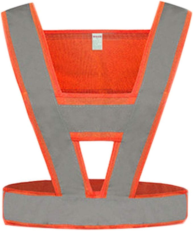 Size red, orange (color Reflective Vest Predective