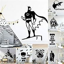 Batman super-héros Wall Art autocollant moderne Stickers chambre décor pour garçons enfants chambre décoration murale viny...
