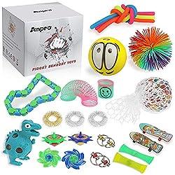 [Quantità fino a 24 pezzi] 24 pezzi di 12 diversi giocattoli di fidget, economici, ti permettono di trovare i giocattoli sensoriali che meglio soddisfano le tue esigenze. Adatto a bambini di età superiore agli 8 anni. [Sicuro e non tossico] I prodott...