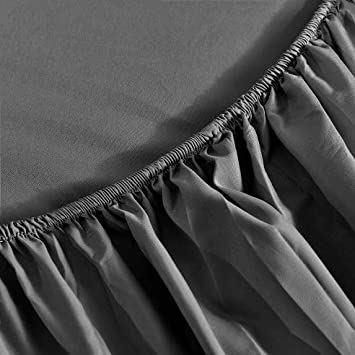 Full 4 Pieces Bed Sheet Set 1800 Thread Count, 1 Flat Sheet, 1 Fitted Sheet, 2 Pillowcases Aqua//Full