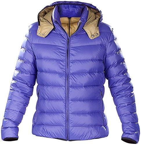 Pearl Doudoune ultralégère en Duvet avec col Montant et Capuche - Bleu - Taille XL Outdoor