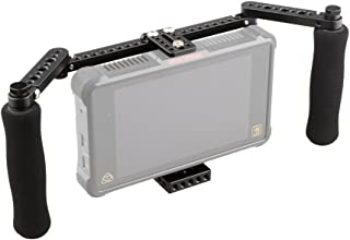 CAMVATE Monitor Cage with Adjustable Handles for 5 inch and 7 inch LCD Monitors