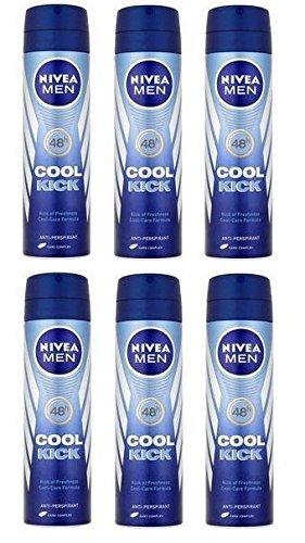 6 x Nivea Men Cool Kick 48h Anti-Perspirant 150ml by Nivea Men